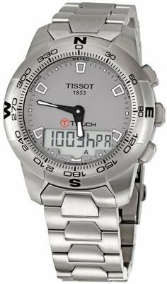 Tissot Men's TIST0474201107100 T-tactile Grey Dial Watch Tissot. $572.22. Durable sapphire crystal protects watch from scratches. Water-resistant to 330 feet (100 M). Quartz movement. Stainless steel case. Case diameter: 43 mm