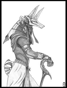 Egyptian god of the dead. Be nice to this dog-headed chap, for he weighed the hearts of all people to determine who would enter paradise and who would fall into oblivion.