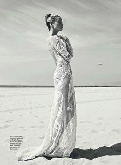 Poder Blanco   Carolyn Murphy   Koray Birand #photography   Harper's Bazaar Spain July/August 2012