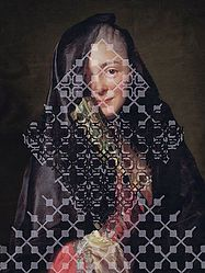 Veils 6 by Elise Wehle, cut paper collage Online Collections, Paper Cutting, Cut Paper, Repeating Patterns, String Art, Textile Design, Print Patterns, Contemporary Art, Portrait