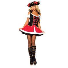Adult Aye Aye Admiral Sexy Pirate Costume Leg Avenue 83625, Small/Medium