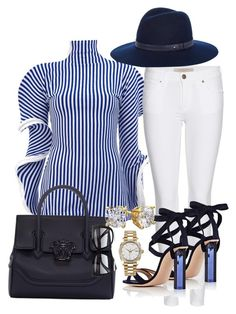 Just me and baby blues by styledbytammy on Polyvore featuring polyvore fashion style Richard Malone Burberry Gianvito Rossi Versace Rolex rag & bone Tom Ford clothing