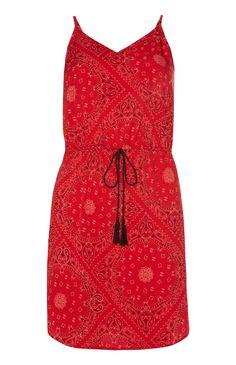 Primark - Rood jurkje met paisleypatroon