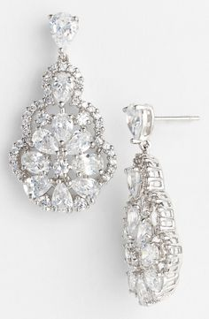 These sparkly teardrop earrings are fit for a princess.