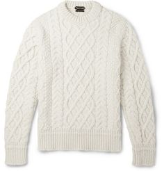 Tom FordCable-Knit Merino Wool and Cashmere-Blend Sweater