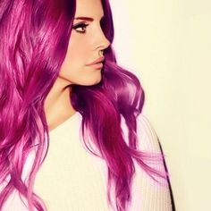 Lana Del Rey - this hair color is beautiful! I will always love unnatural colored locks.