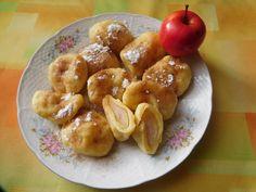 Tvarohové knedlíky s jablky. Autor: Lenulka Dumplings, Pretzel Bites, French Toast, Bread, Breakfast, 3, Food, Author, Morning Coffee