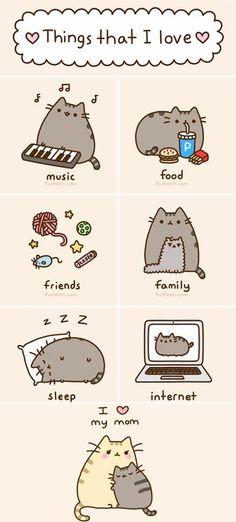 Things that pusheen love ! Pusheen the cat Gato Pusheen, Pusheen Love, Funny Cats, Funny Animals, Cute Animals, Crazy Cat Lady, Crazy Cats, Nyan Cat, Fat Cats