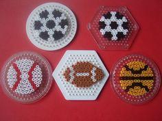 Sport balls hama perler by zabicra on skyrock Perler Bead Designs, Perler Bead Templates, Diy Perler Beads, Perler Bead Art, Pearler Beads, Fuse Beads, Hama Beads Coasters, Melt Beads Patterns, Pearler Bead Patterns