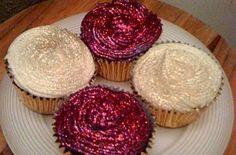 glitter cupcakes... cute :)