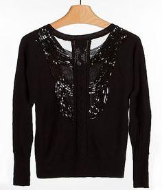 """""""Buffalo Back Sequin Sweater"""" www.buckle.com"""