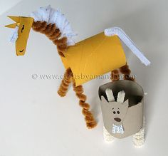 Toilet Paper Roll horse using pipe cleaners #Kids craft