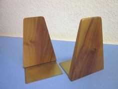 Fine Danish modernist bookends TEAK or nut string mid-century design 50s SOLD