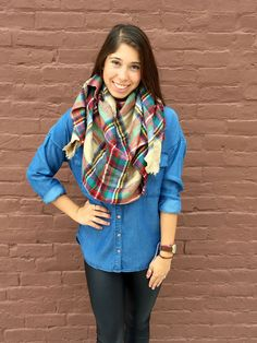 Falling Leaves Blanket Scarf- Tan from Shop Southern Roots TX