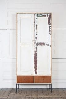 reclaimed wood and iron legs