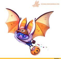 красивые картинки,art,арт,летучая мышь,сэндвич,Хеллоуин,Halloween -приколы на хеллоуин - прикольные костюмы, тыквы, шутки и юмор про хелоуин,Piper Thibodeau