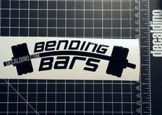 Bending Bars Decal - vehicle window sticker, barbell fitness gym weights accessories bumper lifting