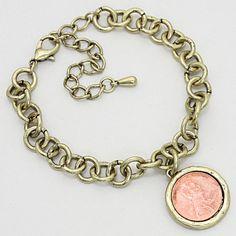 Penny Bracelet in Antique Gold