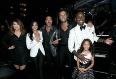 Meghan Trainor, Demi Lovato, Lionel Richie, Luke Bryan, Tyrese, and Shayla Somer Gibson backstage at the 58th Annual GRAMMY Awards on Feb. 15 in Los Angeles