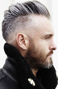 The Best Haircuts For A Receding Hairline: Side Fade #menshairstyles #menshair #recedinghair