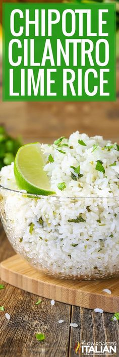 Chipotle Rice Recipe Chipotle Rice Recipes, Cilantro Recipes, Mexican Food Recipes, Vegetarian Recipes, Cooking Recipes, Healthy Recipes, Cilantro Rice, Cat Recipes, Rice Dishes