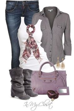 Not sure i like the boots, but love the purse!