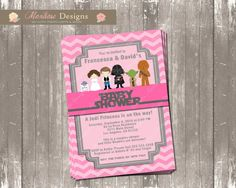 Hey, I found this really awesome Etsy listing at https://www.etsy.com/listing/197913875/pink-chevron-star-wars-baby-shower