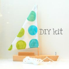 DIY toy sailboat kit : nautical party or decor in Everett's room