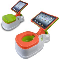 When is too soon to start potty training your child? When is too soon to get your child an iPad? I'm not sure, but you can combine both and kill two birds with one stone with this iPotty with Activity Seat for iPad.