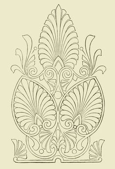 A is for ANTHEMION  A stylized, classical floral motif based on a honeysuckle that was much used in the Neoclassical period, usually as a repeating ornament. It closely resembles a palmette.  Definition provided by B. Viz Designs   bviz.com