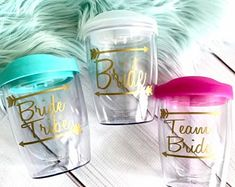 Bride Tribe Tumbler, bachelorette party tumbler, Personalized Gift Tumbler, Bridal Party Gift Cup, B Bridesmaid Cups, Brides And Bridesmaids, Bridesmaid Gifts, Bachelorette Party Cups, Acrylic Tumblers, Team Bride, Party Gifts, Personalized Gifts, Perfume Bottles