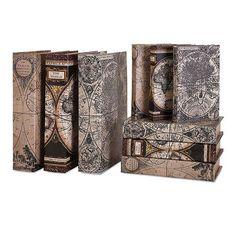 Cassiodorus Book Box Collection Set Of Six Imax Boxes Decorative Boxes Home Decor