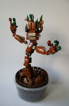 LEGO Groot by Sparkytron on deviantART
