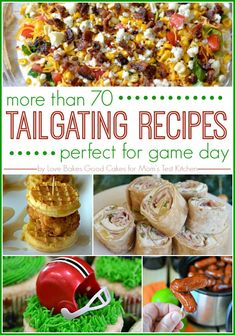 Are you readyfor some football?! This round-up includes more than 70 Tailgating Recipes that will make you arockstar at your next football party!