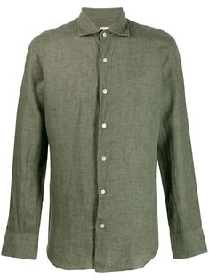 6ab2f4dc15f FINAMORE 1925 NAPOLI FINAMORE 1925 NAPOLI CLASSIC FORMAL SHIRT - GREEN.   finamore1925napoli  cloth