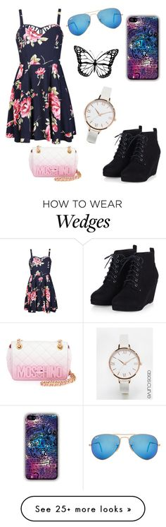 """Untitled #73"" by melody57 on Polyvore featuring Ally Fashion, Ray-Ban, Moschino, ASOS Curve, women's clothing, women, female, woman, misses and juniors"