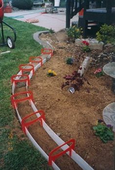 35 Backyard DIY Ideas That Are Borderline Genius. You are able to use backyard in lots of ways. A backyard is just a part of land at the rear of your home. A backyard is merely a sheet of land at the. Concrete Landscape Edging, Landscape Borders, Landscape Curbing, Landscape Bricks, Landscape Designs, Backyard Projects, Outdoor Projects, Garden Projects, Garden Crafts