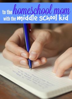 To the homeschool mom with a middle school kid - homeschooling middle school can be hard work but it's really worth the effort. Encouragement and advice for the homeschooling journey.