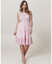 """Frock & Frill"" Frock & Frill Tiered Crochet Dress at Simply Be"