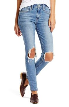 1ab4107fc8ad1 Levi s® 721 Ripped High Waist Skinny Jeans (Rugged Indigo)