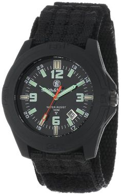 Smith & Wesson Men's SWW-12T-R Soldier Tritium H3 Black Nylon Strap Watch Smith & Wesson http://www.amazon.com/dp/B001RV1QSQ/ref=cm_sw_r_pi_dp_BpR4ub11648HV