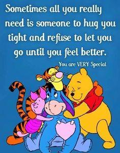 Be a hugger.