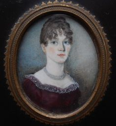 WELL PAINTED REGENCY PERIOD PORTRAIT MINIATURE OF A PRETTY YOUNG LADY C 1810   eBay