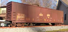 Custom weathered Evans 50' double door HPJX boxcar by American Railroad Customs