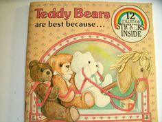 Teddy Bears Are Best Because Vintage 1980s LoveVintageAlways