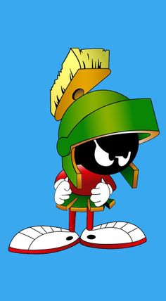 Marvin The Martian from Bugs Bunny Famous Cartoons, Classic Cartoons, Funny Cartoons, Pepe Le Pew, Comics Toons, Marvin The Martian, Disney Quotes, Looney Tunes, Comic Character