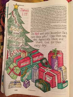 James 1:17 Every good and perfect gift comes from above - bible journaling