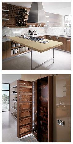 Aesthetically modern wine kitchen design