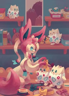 Eevee House - SylveonRibbons and bows!Available on Society6!