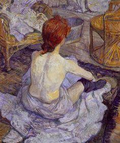 Femme à sa toilette Toulouse- Lautrec